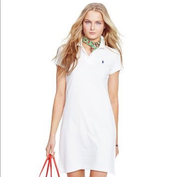 5213866381 Polo Ralph Lauren White Mesh Mini T-shirt Dress NWT